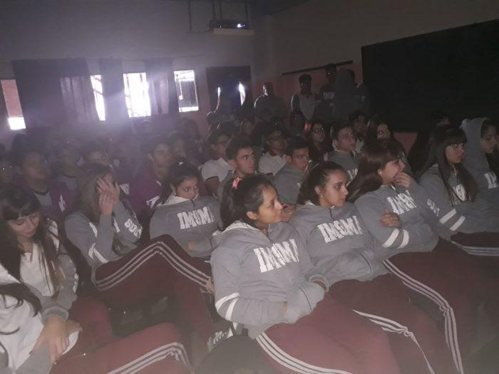 Actividad en una escuela de San Justo